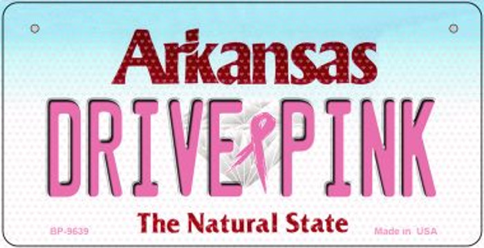 Drive Pink Arkansas Wholesale Novelty Metal Bicycle Plate BP-9639