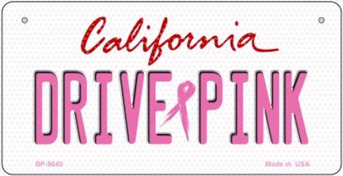 Drive Pink California Wholesale Novelty Metal Bicycle Plate BP-9640