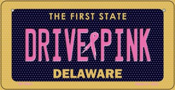 Drive Pink Delaware Wholesale Novelty Metal Bicycle Plate BP-9643