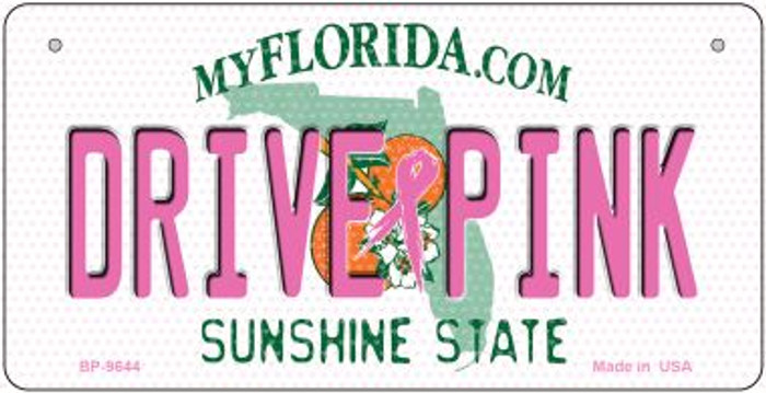 Drive Pink Florida Wholesale Novelty Metal Bicycle Plate BP-9644