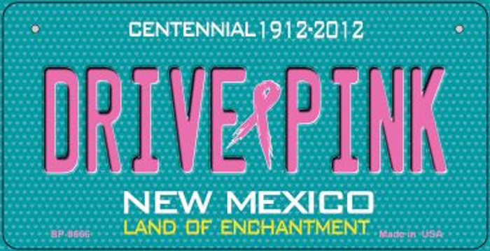 Drive Pink New Mexico Wholesale Novelty Metal Bicycle Plate BP-9666