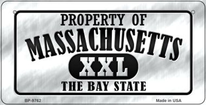 Property Of Massachusetts Wholesale Novelty Metal Bicycle Plate BP-9762