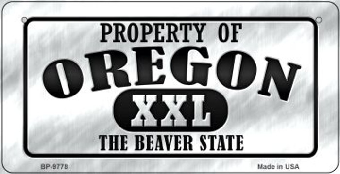Property Of Oregon Wholesale Novelty Metal Bicycle Plate BP-9778