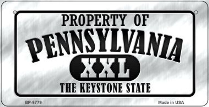 Property Of Pennsylvania Wholesale Novelty Metal Bicycle Plate BP-9779