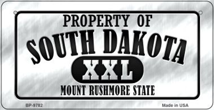 Property Of South Dakota Wholesale Novelty Metal Bicycle Plate BP-9782