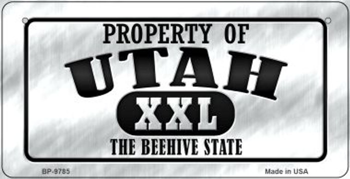 Property Of Utah Wholesale Novelty Metal Bicycle Plate BP-9785