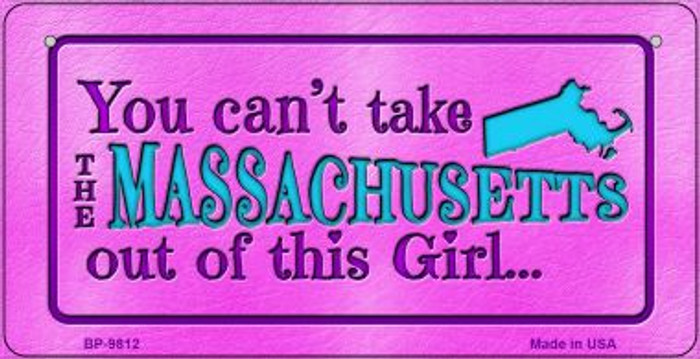 Massachusetts Girl Wholesale Novelty Metal Bicycle Plate BP-9812
