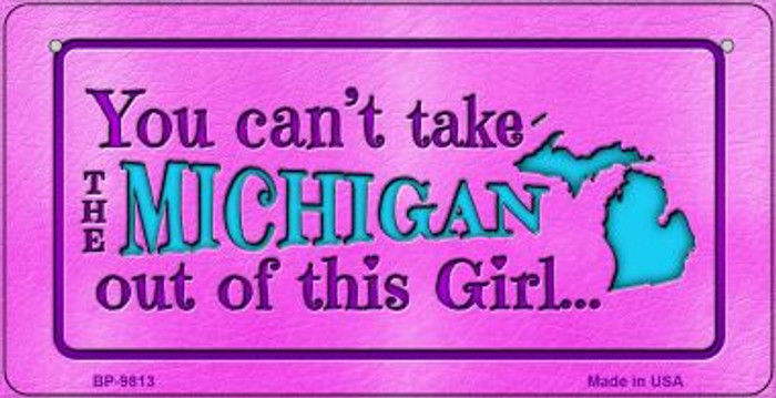 Michigan Girl Wholesale Novelty Metal Bicycle Plate BP-9813