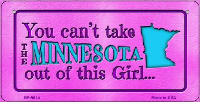 Minnesota Girl Wholesale Novelty Metal Bicycle Plate BP-9814