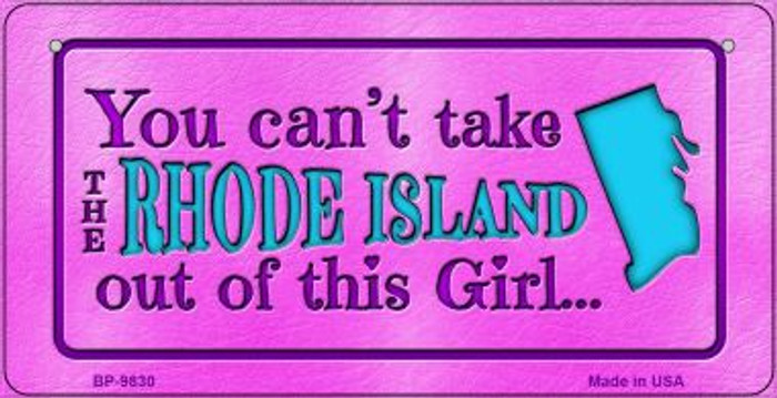 Rhode Island Girl Wholesale Novelty Metal Bicycle Plate BP-9830