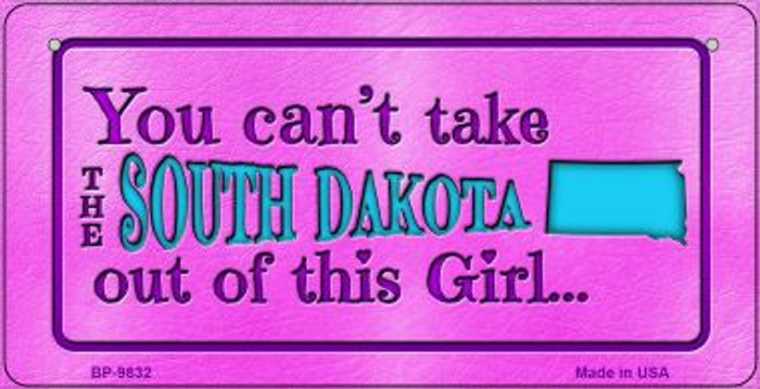 South Dakota Girl Wholesale Novelty Metal Bicycle Plate BP-9832