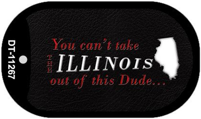 Illinois Dude Wholesale Novelty Metal Dog Tag Necklace DT-11267