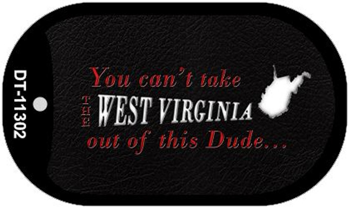 West Virginia Dude Wholesale Novelty Metal Dog Tag Necklace DT-11302