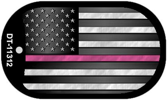 Thin Pink Line  Wholesale Novelty Metal Dog Tag Necklace DT-11312