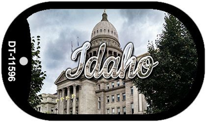 Idaho Capital Building Wholesale Novelty Metal Dog Tag Necklace DT-11596