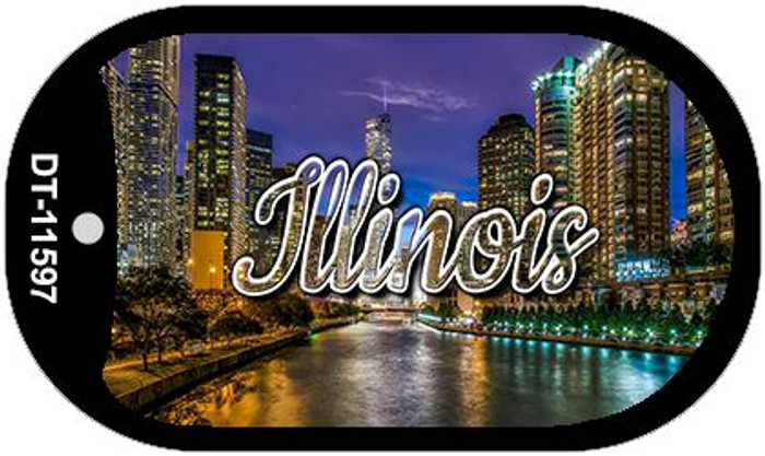 Illinois River City Lights Wholesale Novelty Metal Dog Tag Necklace DT-11597