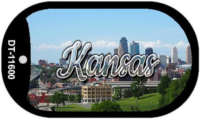 Kansas Downtown Skyline Wholesale Novelty Metal Dog Tag Necklace DT-11600