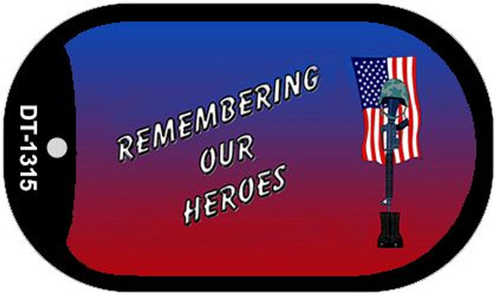 Remembering Our Heroes Wholesale Novelty Metal Dog Tag Necklace DT-1315