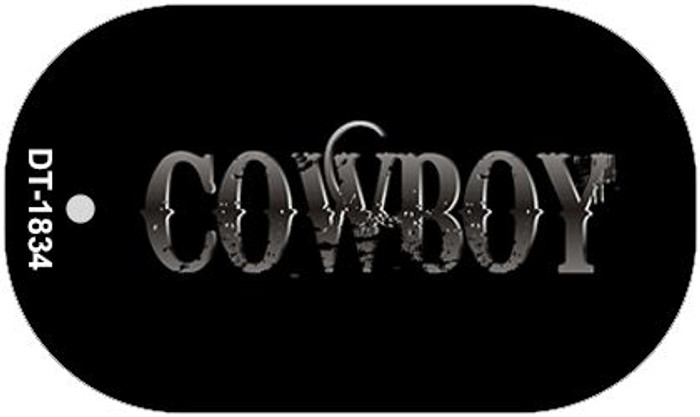 Cowboy Wholesale Novelty Metal Dog Tag Necklace DT-1834