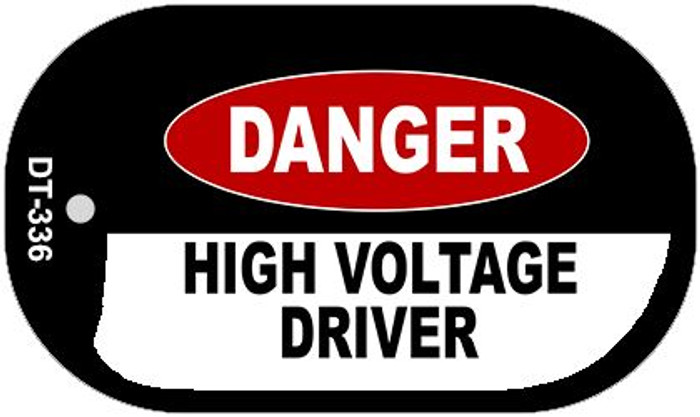 Danger High Voltage Driver Wholesale Novelty Metal Dog Tag Necklace DT-336
