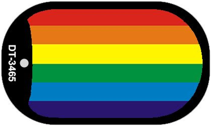 Rainbow Flag Wholesale Novelty Metal Dog Tag Necklace DT-3465