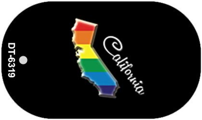 California Rainbow State Wholesale Novelty Metal Dog Tag Necklace DT-6319
