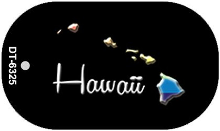 Hawaii Rainbow State Wholesale Novelty Metal Dog Tag Necklace DT-6325