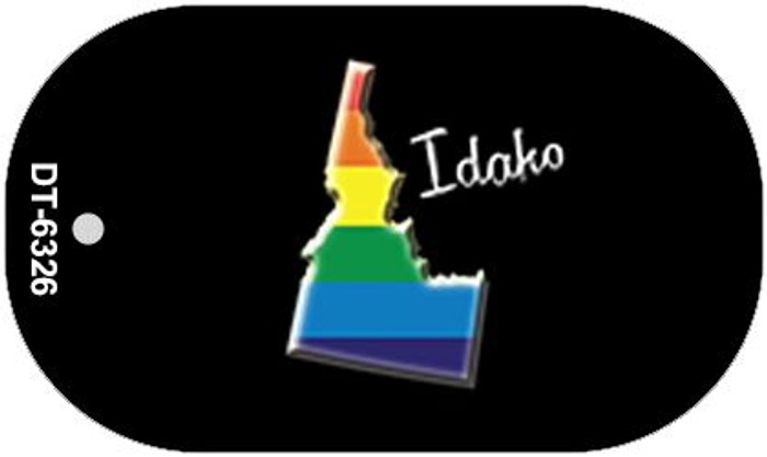 Idaho Rainbow State Wholesale Novelty Metal Dog Tag Necklace DT-6326