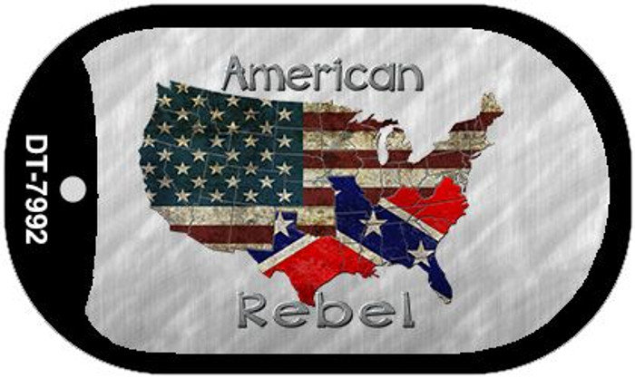 American Rebel Map Wholesale Novelty Metal Dog Tag Necklace DT-7992