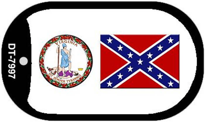 Confederate Flag Virginia Seal Wholesale Novelty Metal Dog Tag Necklace DT-7997
