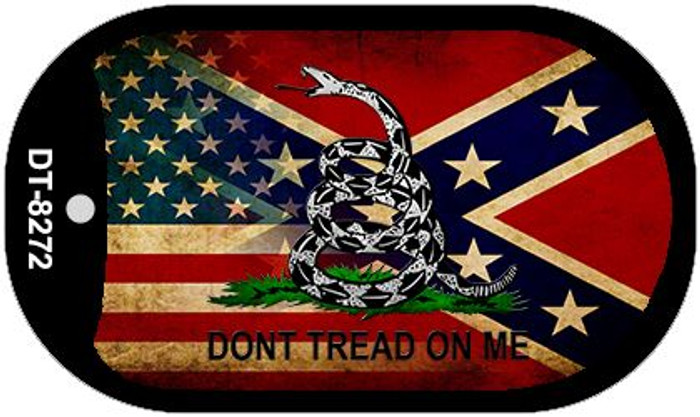 American Confederate Dont Tread Wholesale Novelty Metal Dog Tag Necklace DT-8272