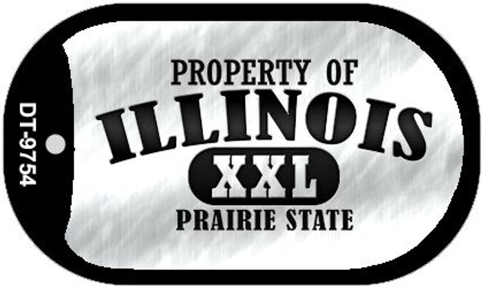 Property Of Illinois Wholesale Novelty Metal Dog Tag Necklace DT-9754