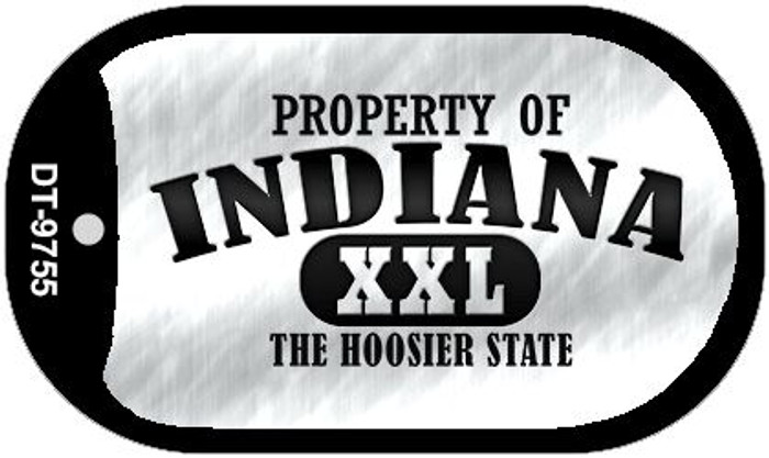 Property Of Indiana Wholesale Novelty Metal Dog Tag Necklace DT-9755