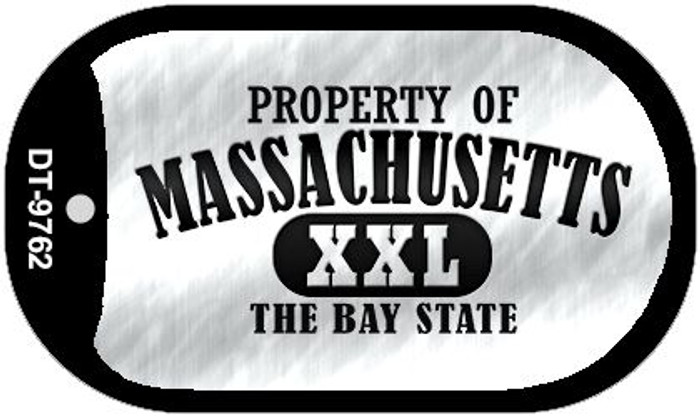 Property Of Massachusetts Wholesale Novelty Metal Dog Tag Necklace DT-9762