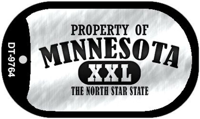 Property Of Minnesota Wholesale Novelty Metal Dog Tag Necklace DT-9764