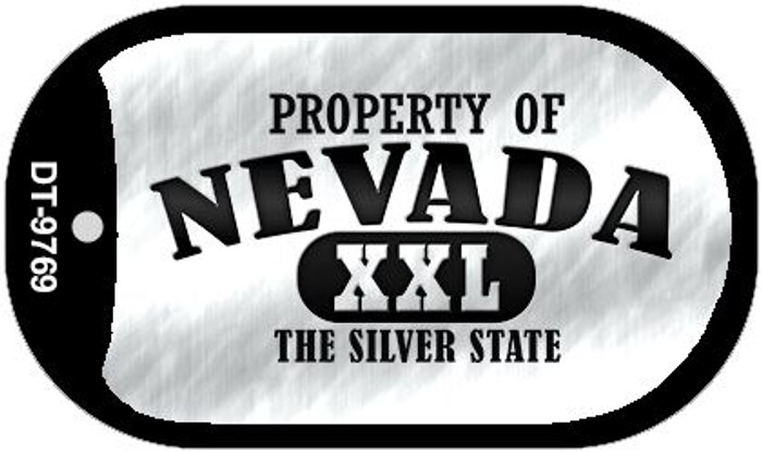 Property Of Nevada Wholesale Novelty Metal Dog Tag Necklace DT-9769