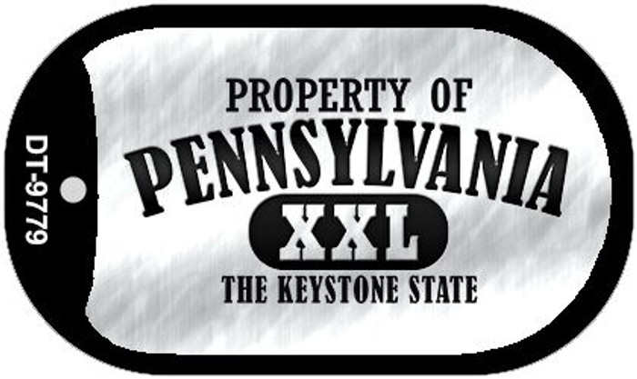 Property Of Pennsylvania Wholesale Novelty Metal Dog Tag Necklace DT-9779