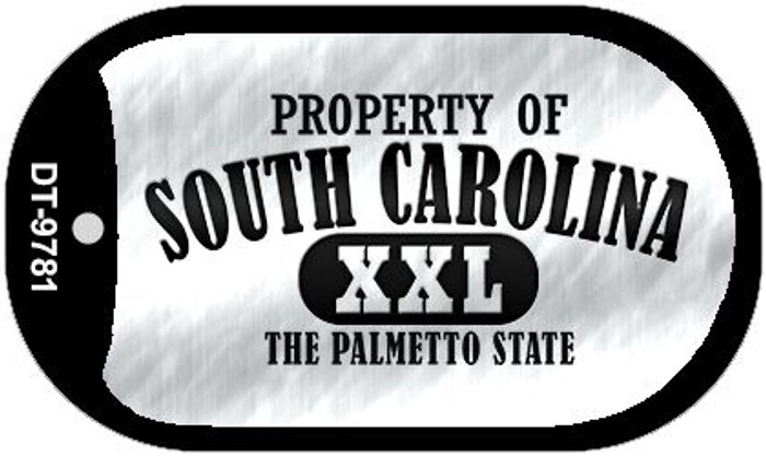 Property Of South Carolina Wholesale Novelty Metal Dog Tag Necklace DT-9781