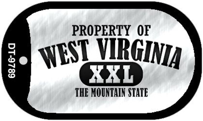 Property Of West Virginia Wholesale Novelty Metal Dog Tag Necklace DT-9789