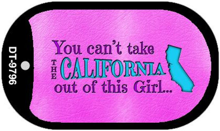 California Girl Wholesale Novelty Metal Dog Tag Necklace DT-9796