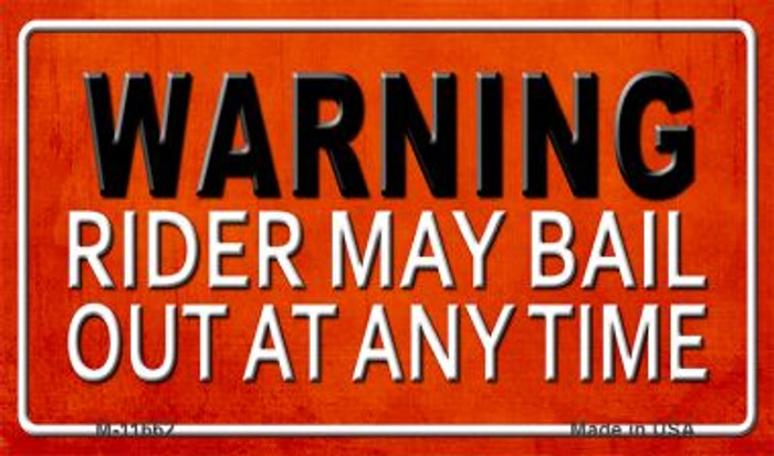 Rider May Bail Wholesale Novelty Metal Magnet M-11662