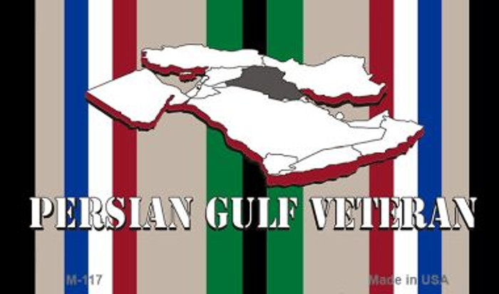 Persian Gulf Veteran Wholesale Novelty Metal Magnet M-117