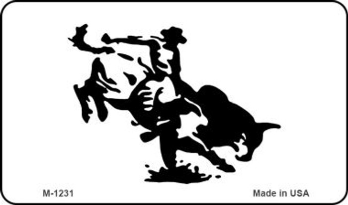 Bull Rider Wholesale Novelty Metal Magnet M-1231