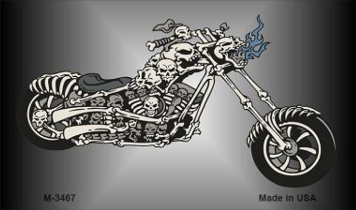 Chopper Skull Wholesale Novelty Metal Magnet M-3467