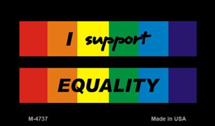 Equality Rainbow Wholesale Novelty Metal Magnet M-4737