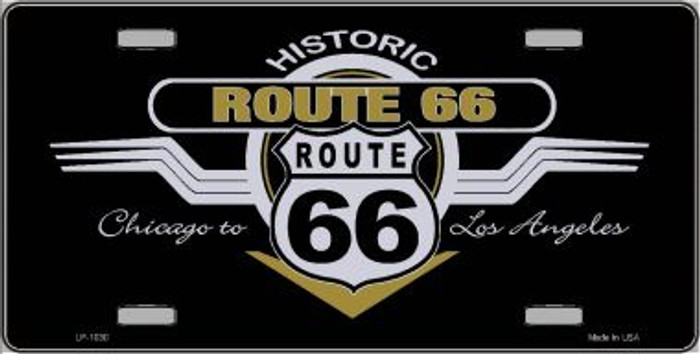 Route 66 Shield Wings Novelty Wholesale Metal License Plate