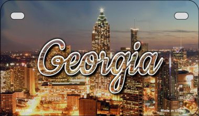 Georgia City Lights Wholesale Novelty Metal Motorcycle Plate MP-11593