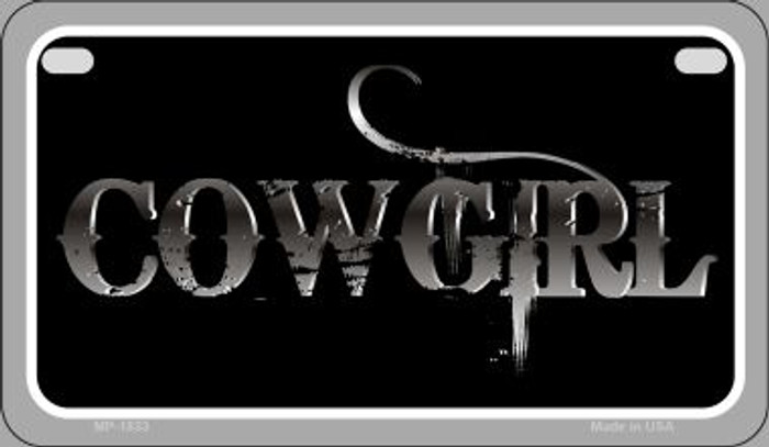 Cowgirl Wholesale Novelty Metal Motorcycle Plate MP-1833