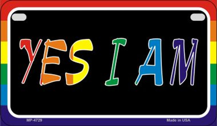 Yes I Am Rainbow Wholesale Novelty Metal Motorcycle Plate MP-4729