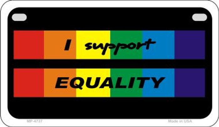 Equality Rainbow Wholesale Novelty Metal Motorcycle Plate MP-4737